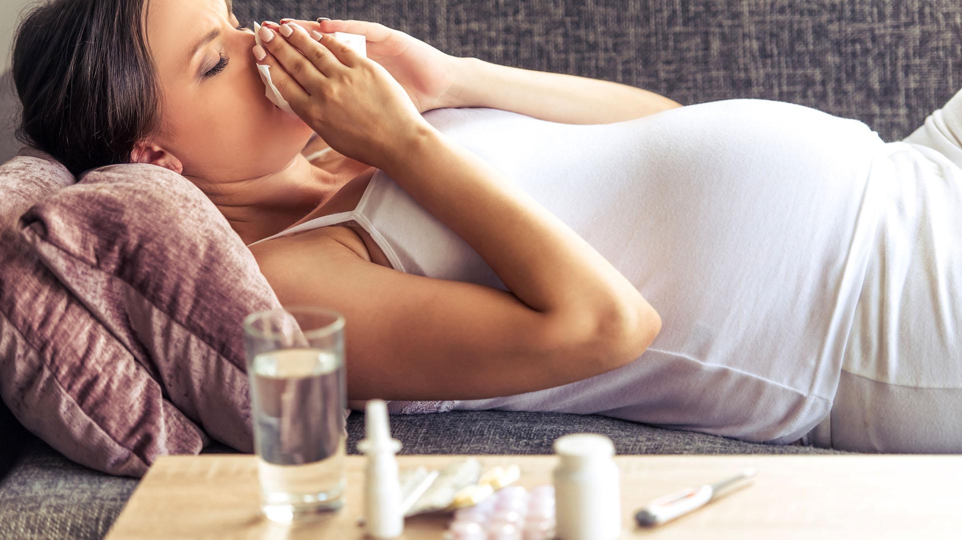 gripa in sarcina